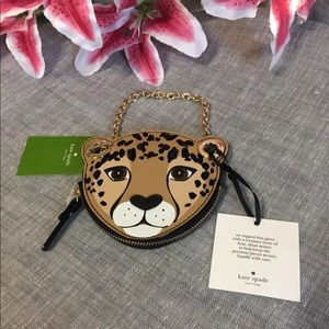 Kate Spade Embellished Leopard Coin Run Wild Purse